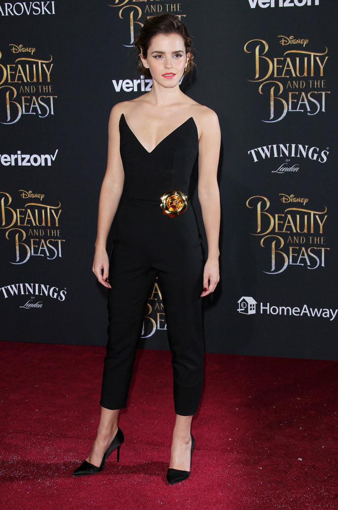 Emma Watson beauty and the beast movie premiere red carpet