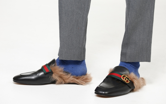 Gucci Fur Loafers