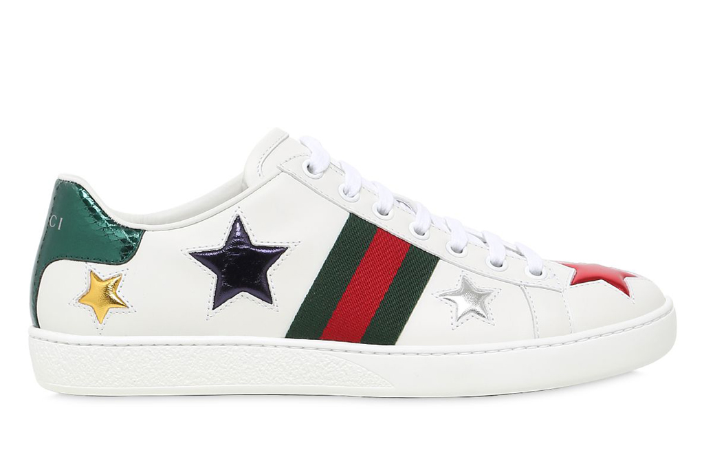 Gucci New Ace Stars Leather Sneakers