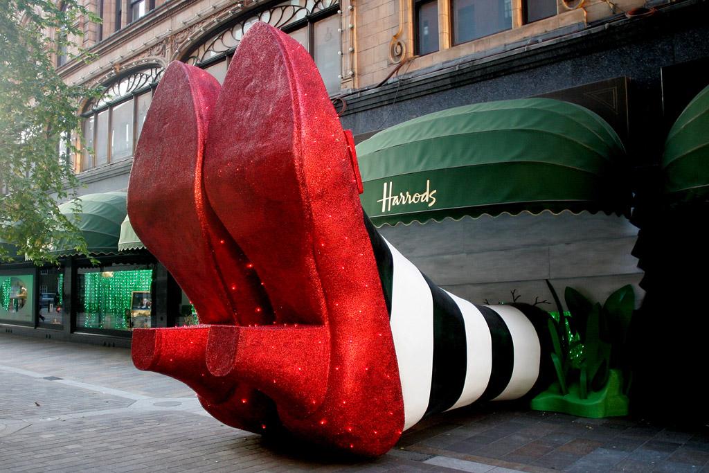 ruby slippers wizard of oz harrods