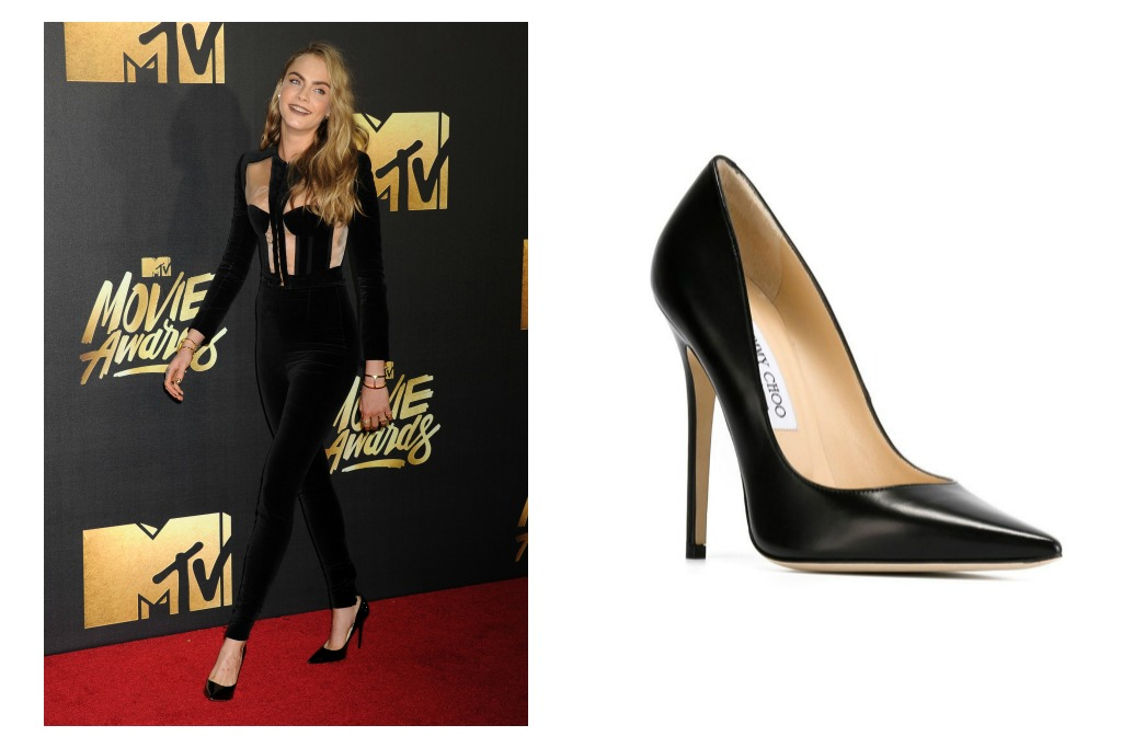 cara delevingne mtv movie awards jimmy choo
