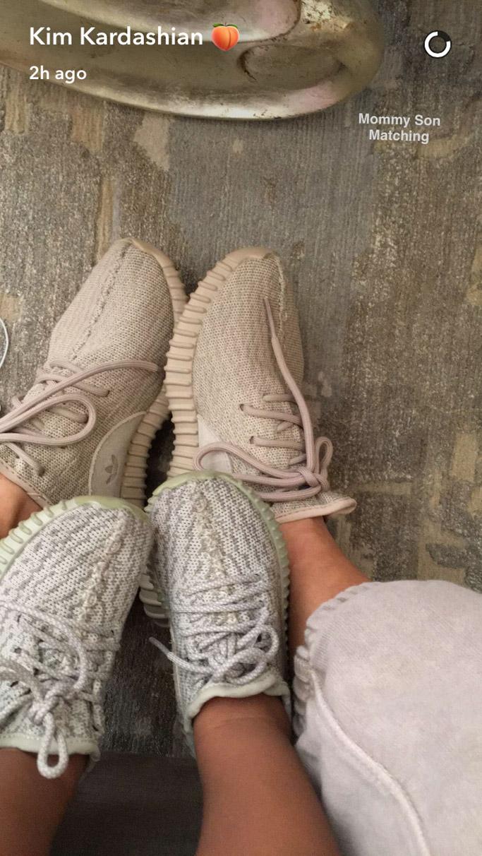 Kim Kardashian West yeezy saint sneakers toddler