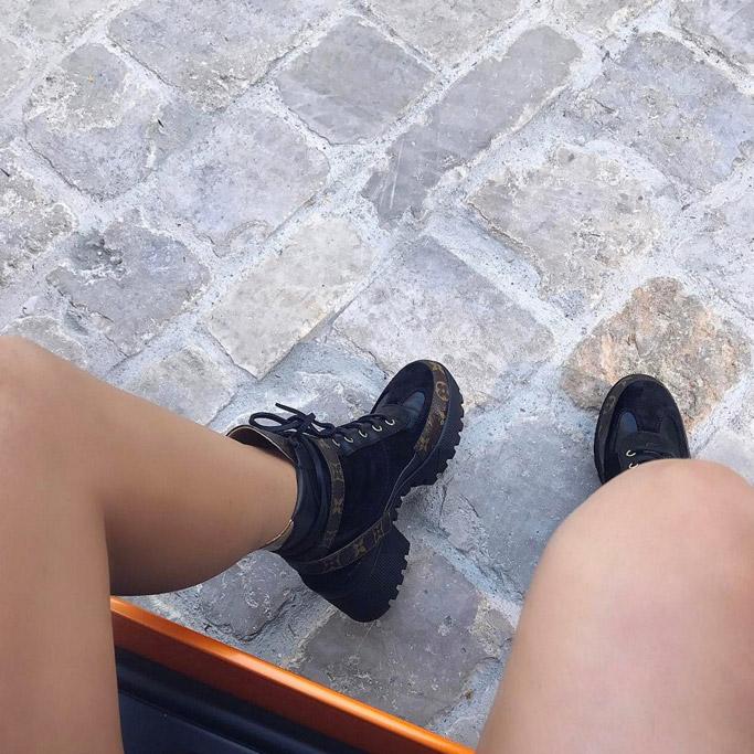 kylie Jenner louis vuitton laureate desert boots