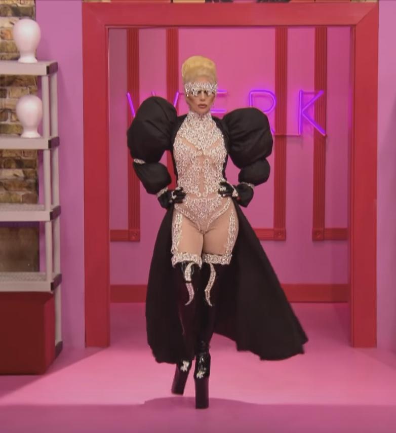 pleaser shoes heels lady gaga rupauls drag race nude bodysuit