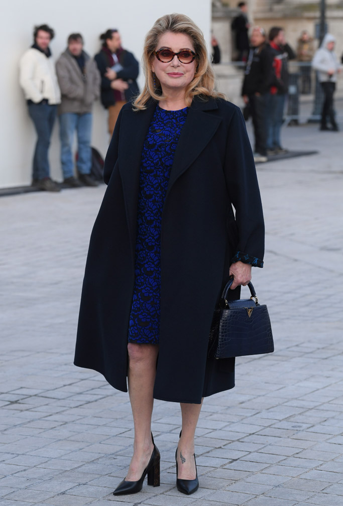 Catherine Deneuve Louis Vuitton Front Row Celebrities