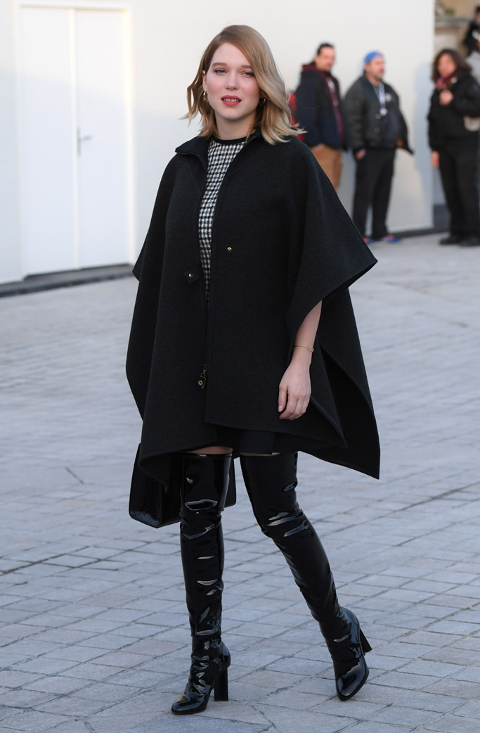 Lea Seydoux Louis Vuitton Front Row Celebrities