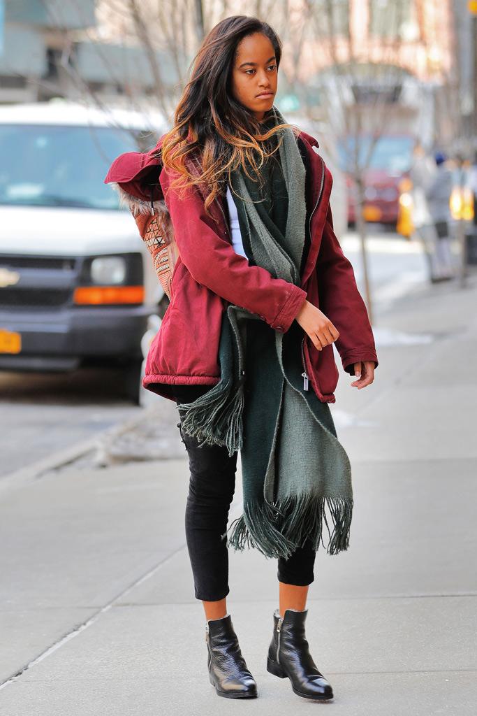 Malia Obama 3.1 Phillip Lim Boots, new york, style, weinstein internship, 2017