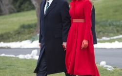 Melania Trump: White House Weekend Heels