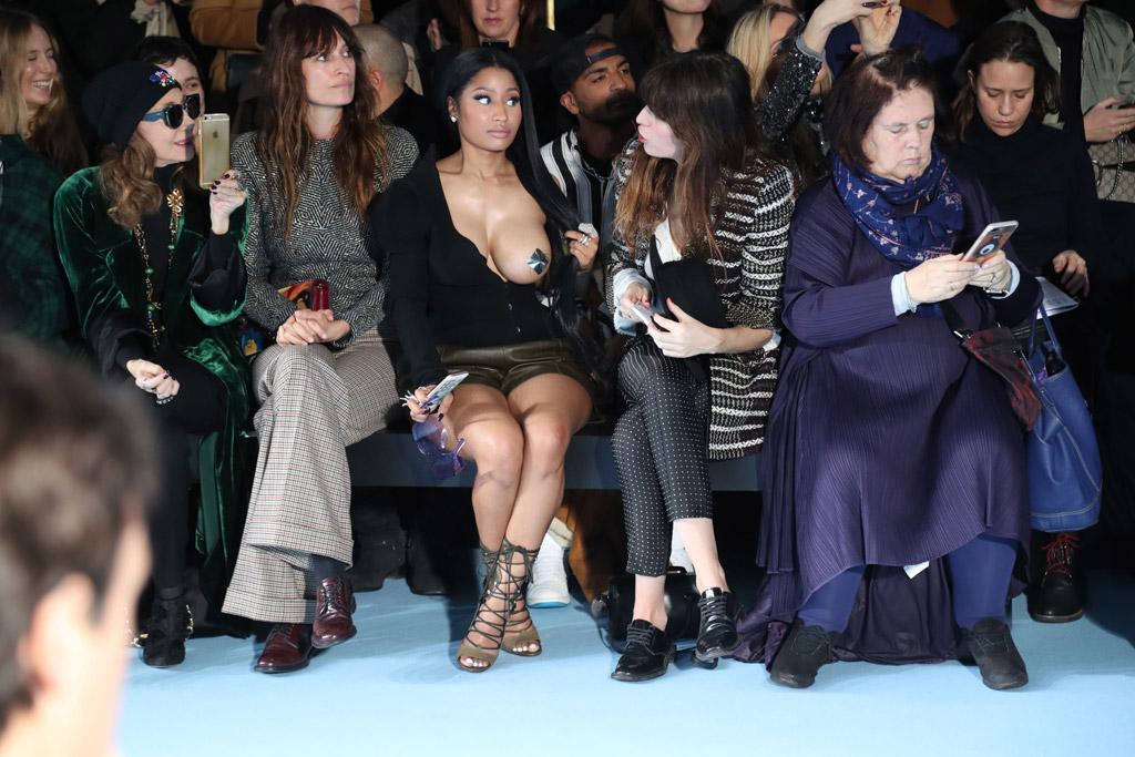 Nicki Minaj paris fashion week 2017 boob Haider Ackermann