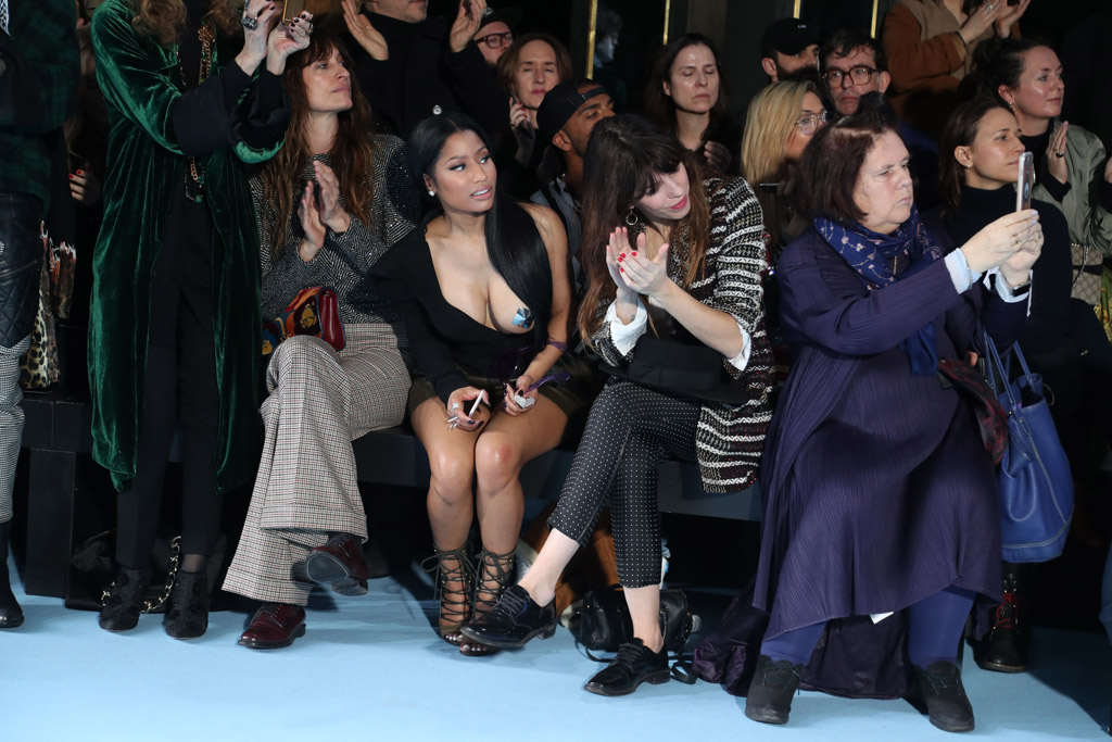 Nicki Minaj paris fashion week 2017 Haider Ackermann