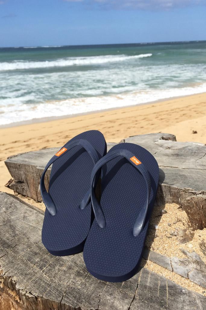 Olli blue flip flops