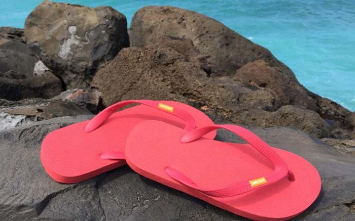 olli pink flip-flops