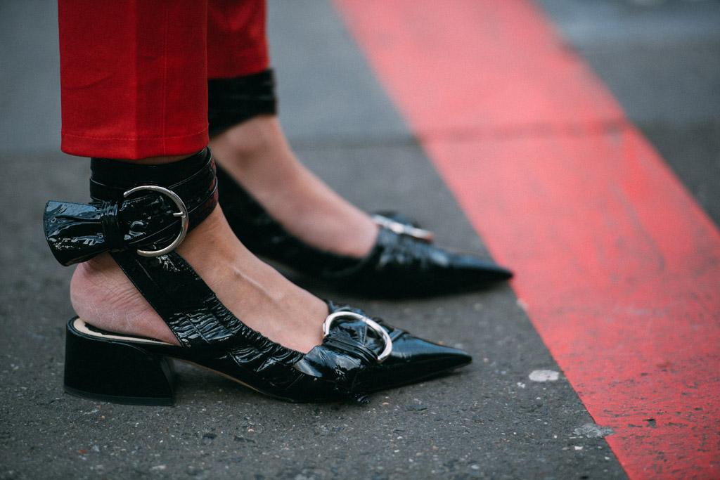 Street Style Shoes Paris Fashion Week Fall 2017