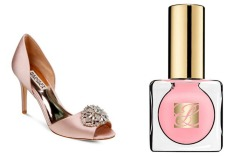 open toe shoes and polish