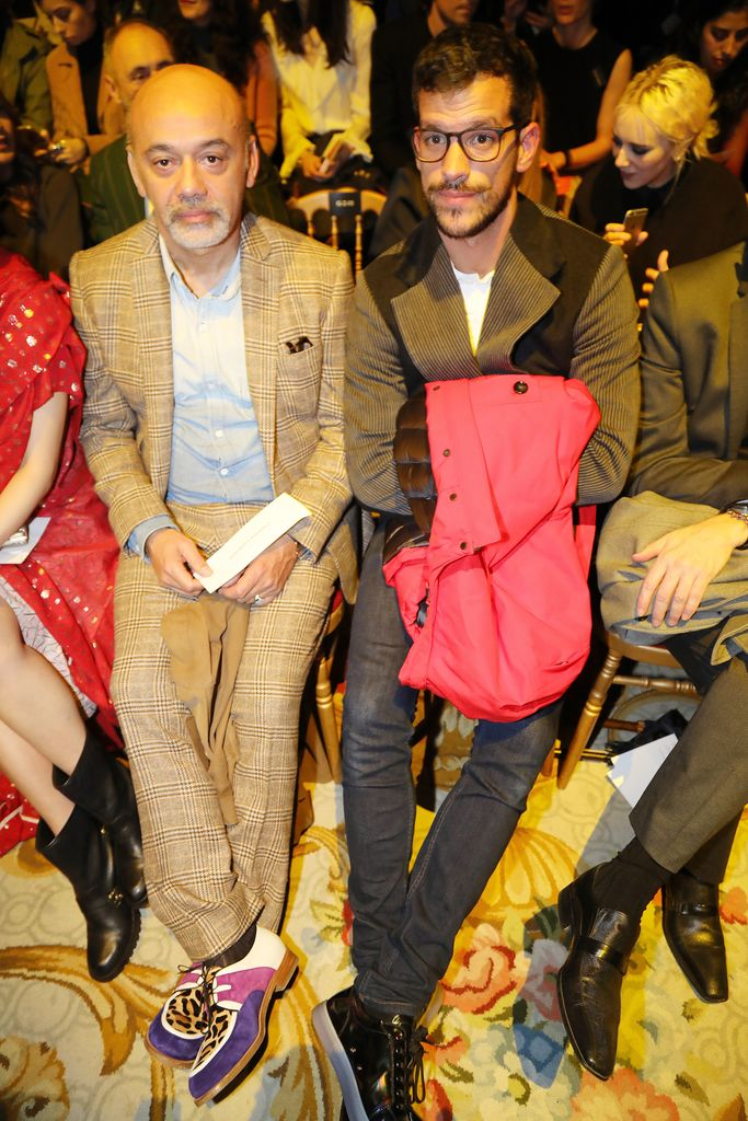 Christian Louboutin front row paris fashion week fall 2017