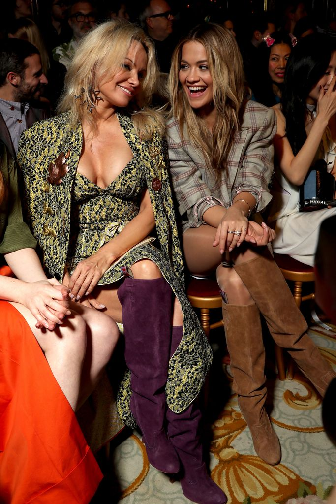 Pamela Anderson and Rita Ora in the Front RowVivienne Westwood show, Autumn Winter 2017, Paris Fashion Week, France - 04 Mar 2017