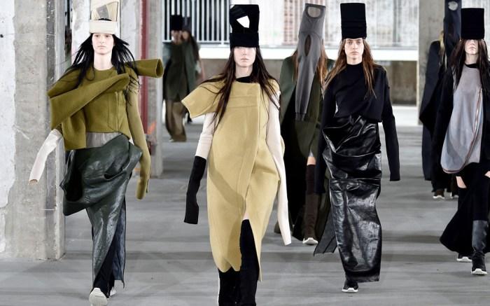 Rick Owens fall 2017 Paris Fashion Week