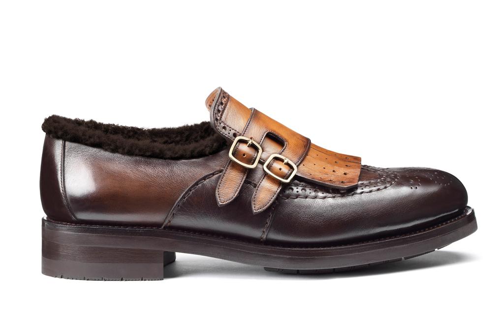 Santoni Fur Dress Shoe
