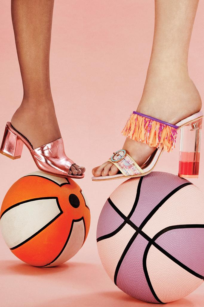 designer statement heels