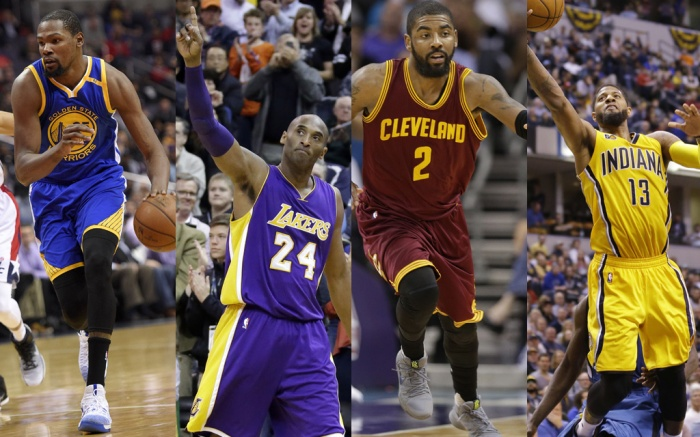 Kevin Durant, Kobe Bryant, Kyrie Irving and Paul George