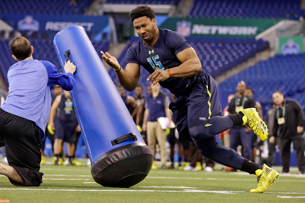 Defensive end Myles Garrett Adidas NFL Combine