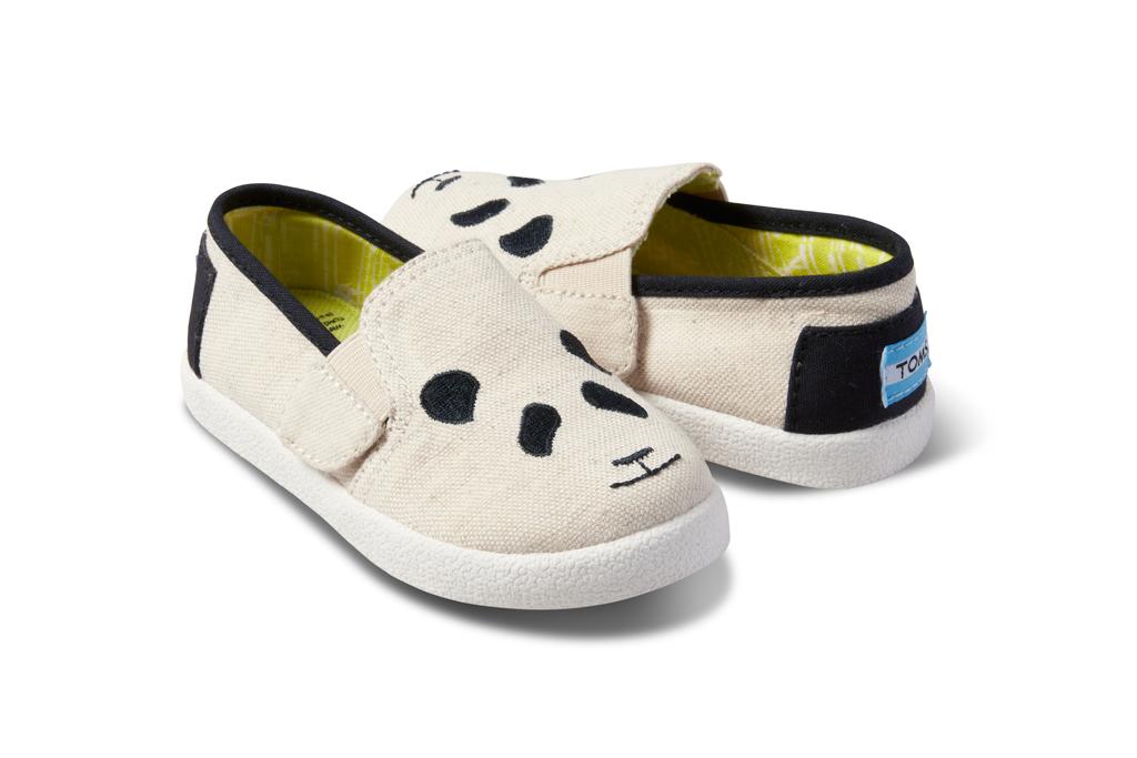 Toms Tiny Avalon Panda shoe