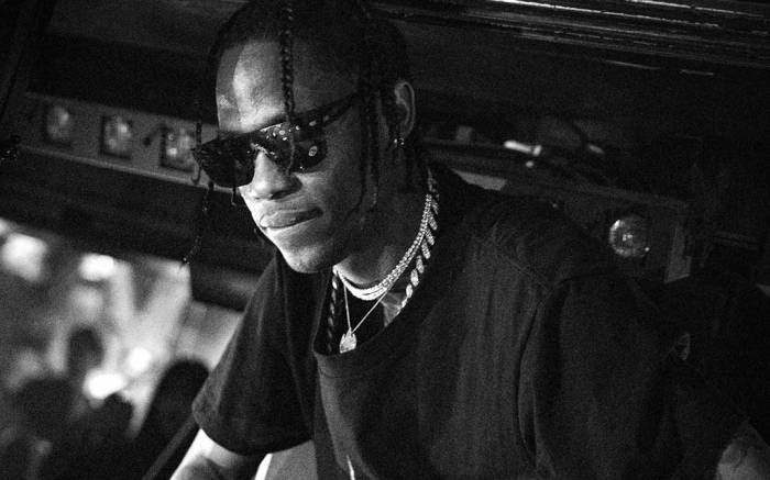 Travis Scott performs at a party during Paris Fashion Week, March 2017.