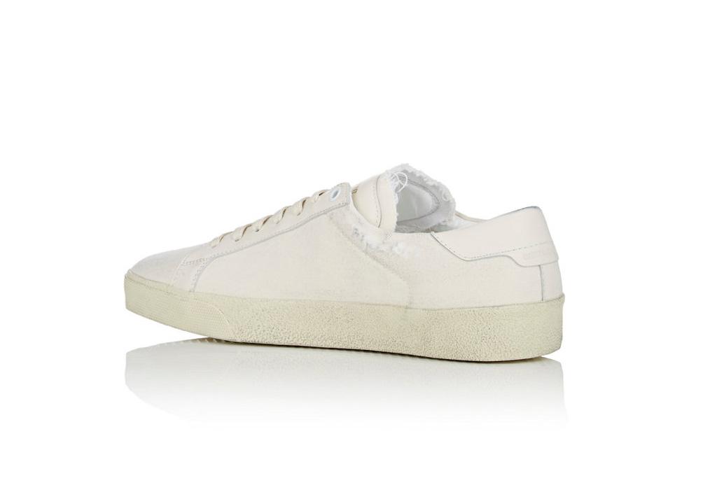 Saint Laurent SL/06 Distressed Canvas Sneakers