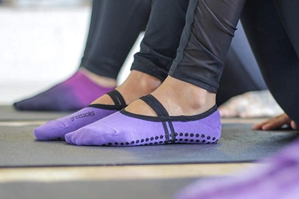 Yoga Sock Yoga Non Slip Socks One Size Pink Black Purple Green Choice