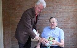 Bill Clinton Gives George Bush Socks