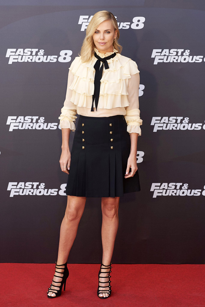 charlize theron fast & furious 7 fate of the furious movie premiere red carpet