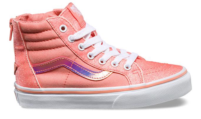 Vans Kids Glitter & Iridescent Sk8-Hi Zi starbucks Unicorn Frappuccino shoes sneakers rainbow