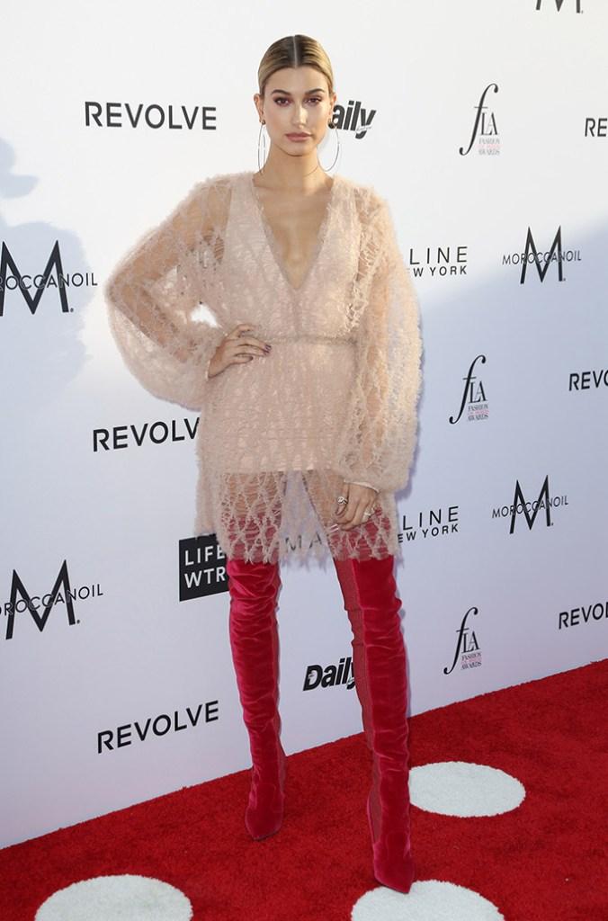 hailey baldwin fashion los angeles awards