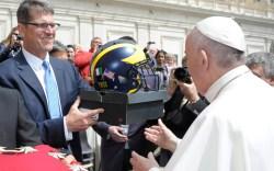 Jim Harbaugh Pope Francis