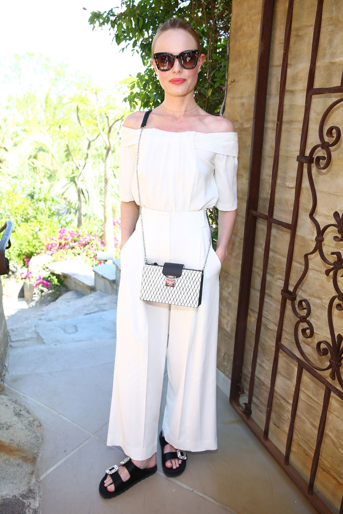 celebs day 2 party coachella 2017 Zoeasis Kate Bosworth roger vivier slides crystal sandals