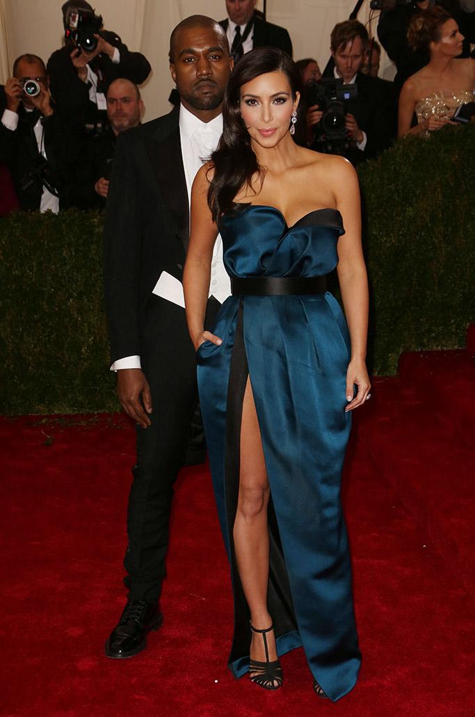 2014 met gala, kim kardashian and kanye west