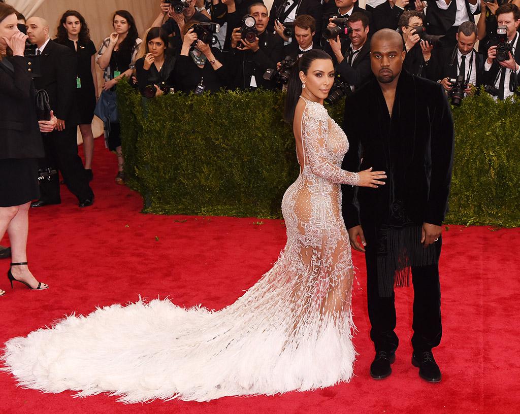2015 met gala, Kim Kardashian and Kanye West