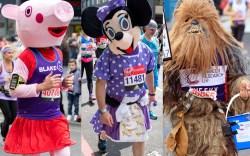 runners costumes london marathon sneakers tracker