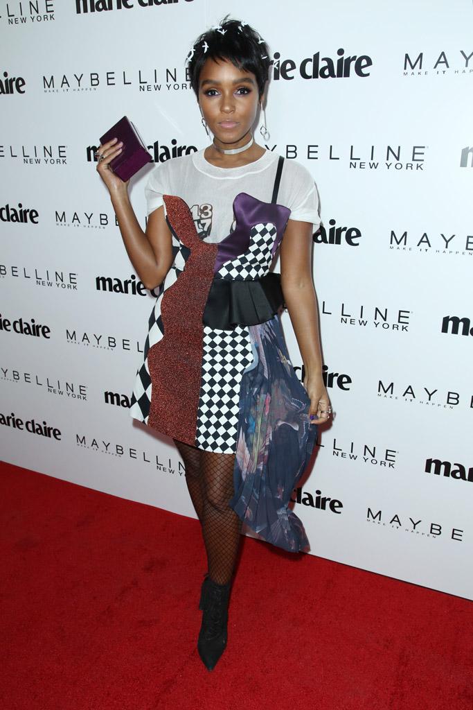 marie claire fresh faces red carpet fashion Janelle Monae dress heels shoes 2017 off-white