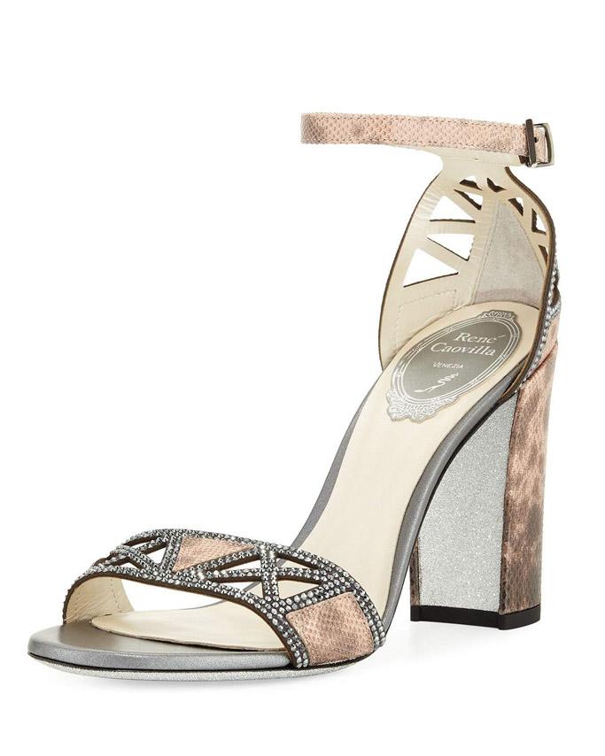 Rene Caovilla Strass Karung sandals