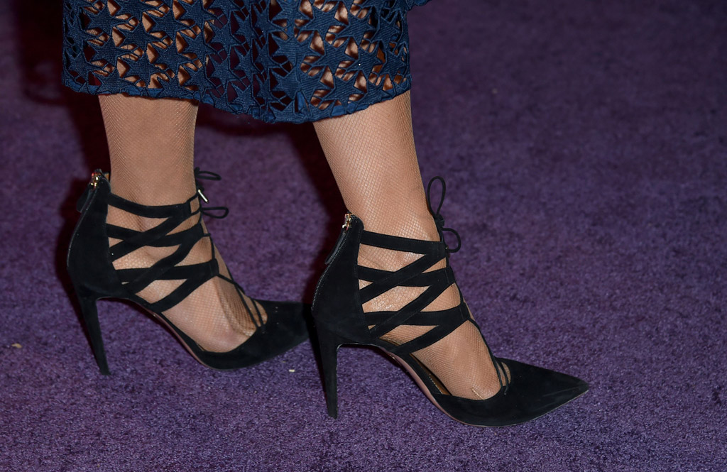 2017 MOCA Gala dress shoes red carpet paris hilton