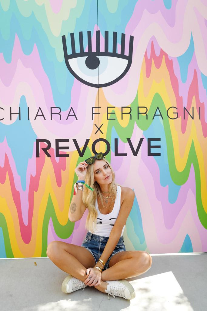 coachella 2017 music festival parties Chiara Ferragni revolve blonde