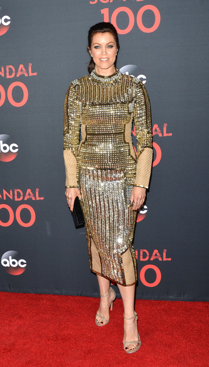 scandal 100th episode red carpet bellamy young