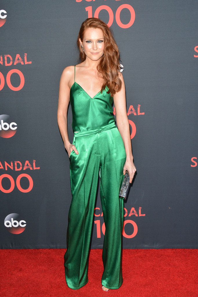 scandal 100th episode red carpet darby stanchfield