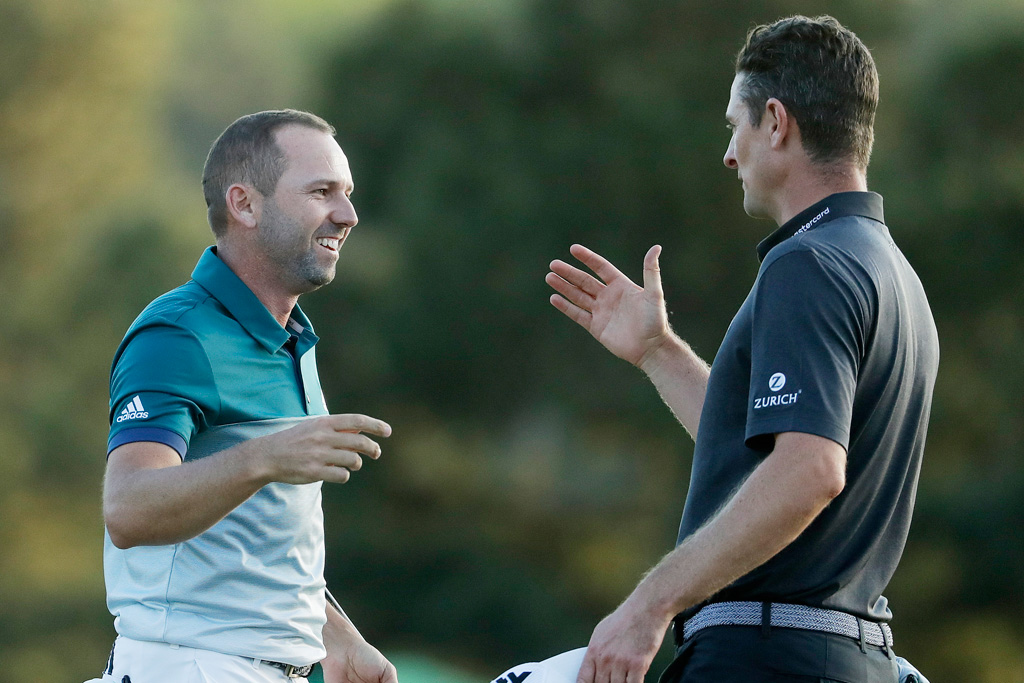 Sergio Garcia Justin Rose The Masters
