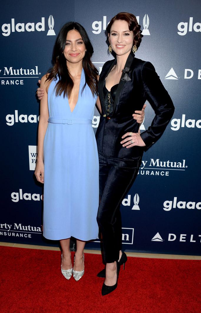Chyler Leigh Floriana Lima glaad media awards red carpet