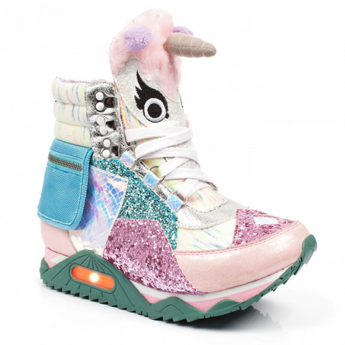 irregular choice starbucks Unicorn Frappuccino shoes sneakers rainbow