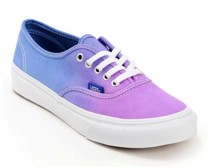 Vans authentic slim ombre purple blue starbucks Unicorn Frappuccino shoes sneakers rainbow