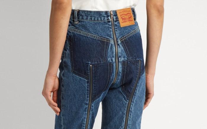 Vetements Zipper Jeans