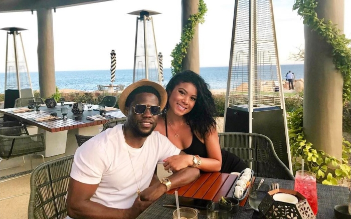 Kevin Hart and Eniko Parrish-Hart